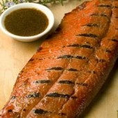Barbecued,Salmon,with,Soy,and,Brown,Sugar,Marinade