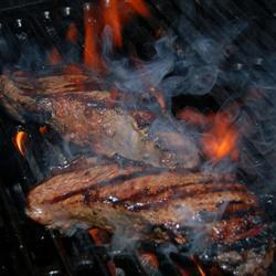 Barbecued Sirloin Steak with Garlic Butter
