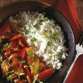 Chicken,and,vegetable,stir-fry