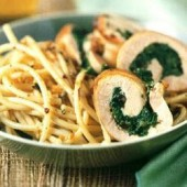 Chicken,roulades,with,spinach,and,mushrooms