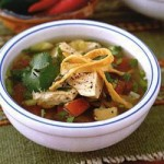 Chicken-tomato,soup,with,tortillas