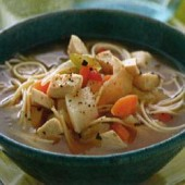 Country-style,chicken,soup,with,noodles