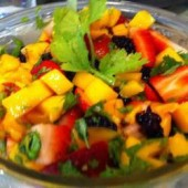 Mango,Fruit,Salad,with,Coriander,and,Lime