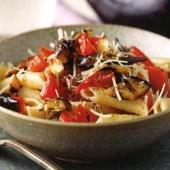 Penne,with,grilled,eggplant