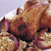 Roast,Chicken,with,Fig,Pistachio,Couscous,Stuffing