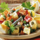 Russian,salad,with,potato,and,capers