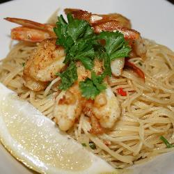 Seared Prawns on Chilli & Lemon Pasta