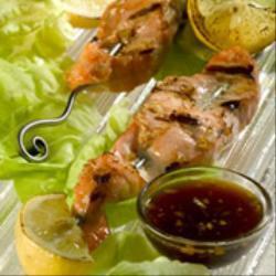 Barbecued Salmon Kebabs
