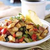 Chicken,and,potato,hash