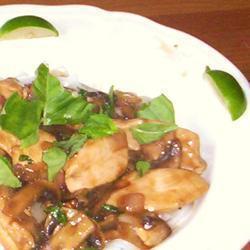 Chicken chilli basil