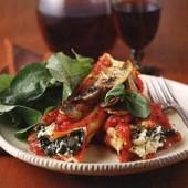 Manicotti,with,spinach,&,mushrooms