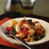 Pasta,with,prawns,&,cherry,tomatoes