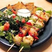 Teriyaki,chicken,&,vegetable,kebabs